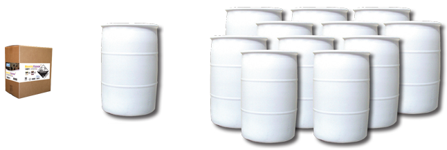1 case of Revite Fusion = (1) 55 gallon drum of concentrated product = (11) 55 gallon drums of ready to use product